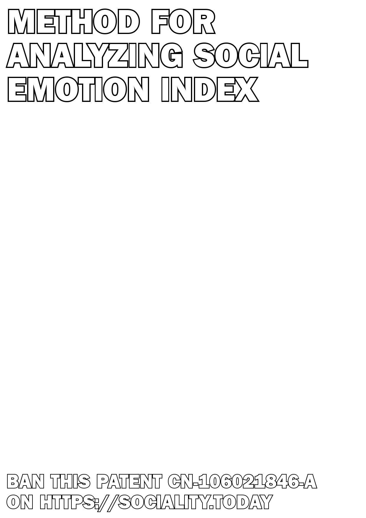 Method for analyzing social emotion index  - CN-106021846-A