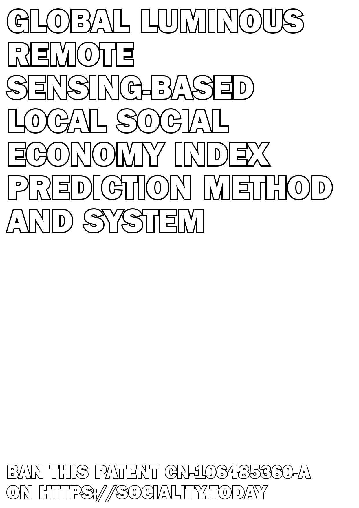 Global luminous remote sensing-based local social economy index prediction method and system  - CN-106485360-A