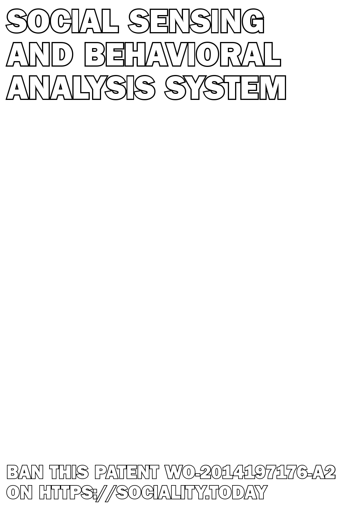 Social sensing and behavioral analysis system  - WO-2014197176-A2