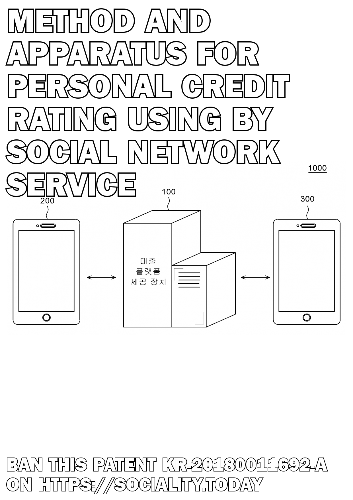 Method and apparatus for personal credit rating using by social network service  - KR-20180011692-A