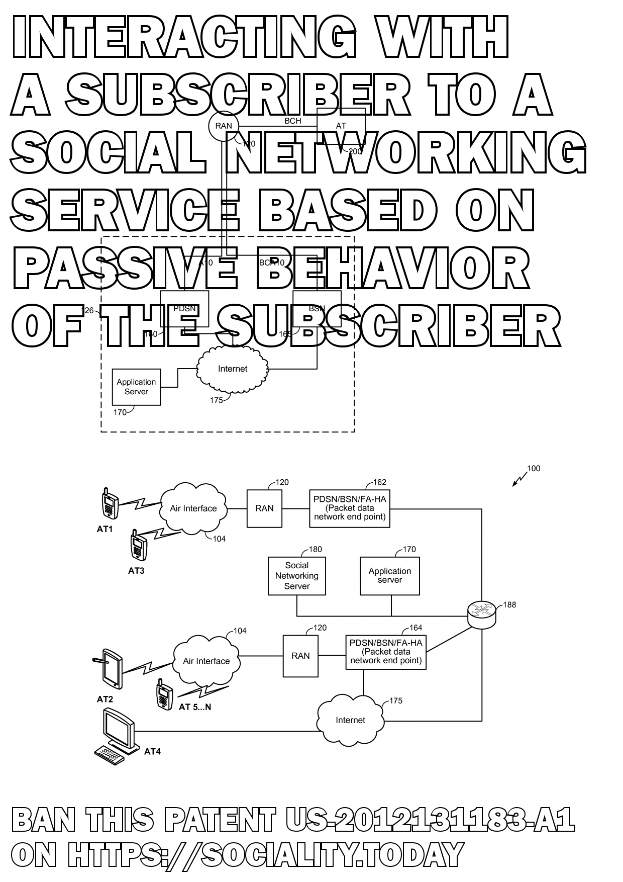 Interacting with a subscriber to a social networking service based on passive behavior of the subscriber  - US-2012131183-A1