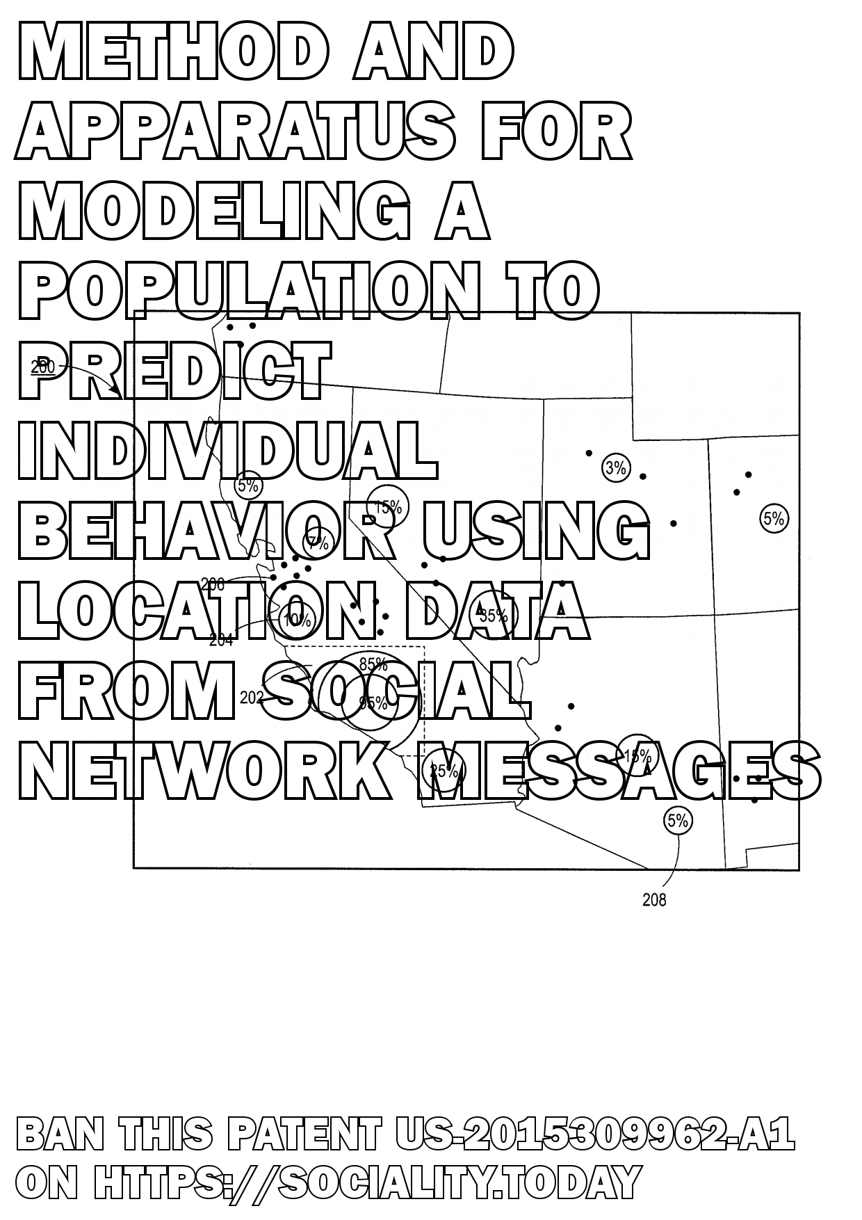 Method and apparatus for modeling a population to predict individual behavior using location data from social network messages  - US-2015309962-A1