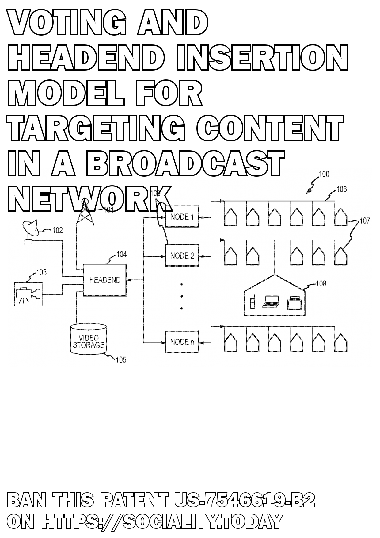 Voting and headend insertion model for targeting content in a broadcast network  - US-7546619-B2