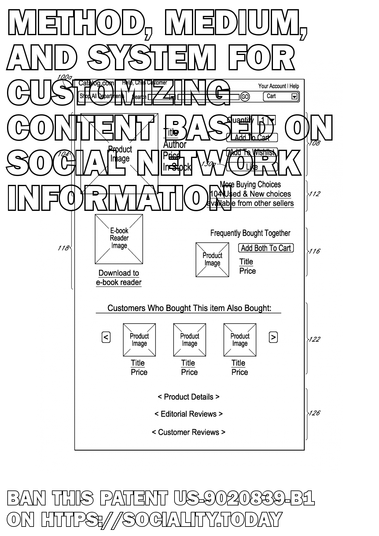 Method, medium, and system for customizing content based on social network information  - US-9020839-B1