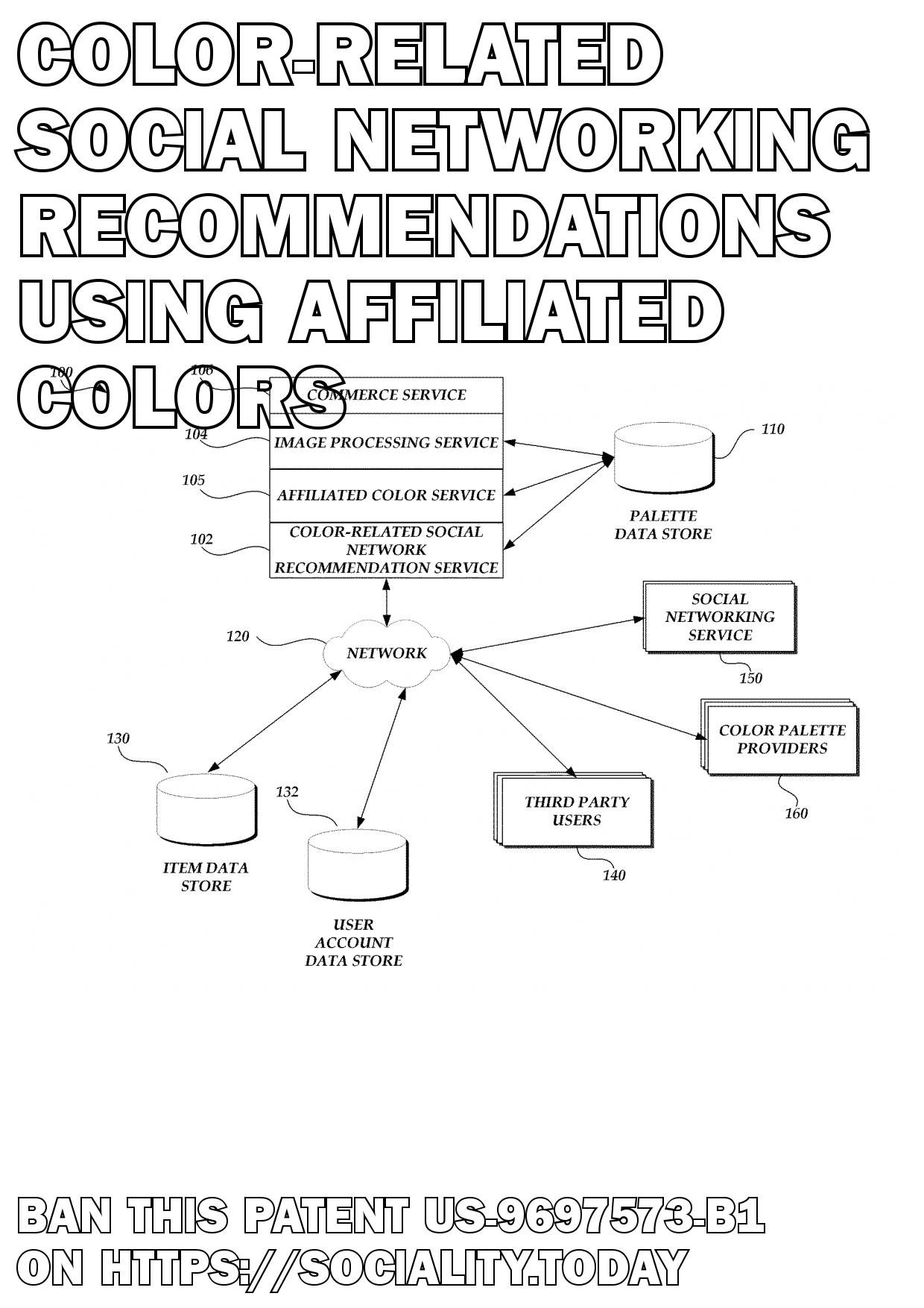 Color-related social networking recommendations using affiliated colors  - US-9697573-B1