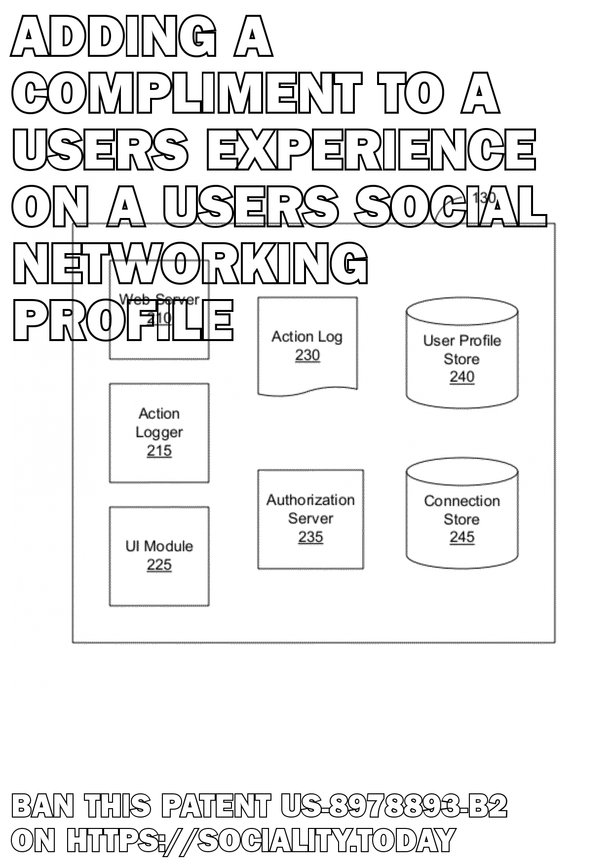 Adding a compliment to a users experience on a users social networking profile  - US-8978893-B2