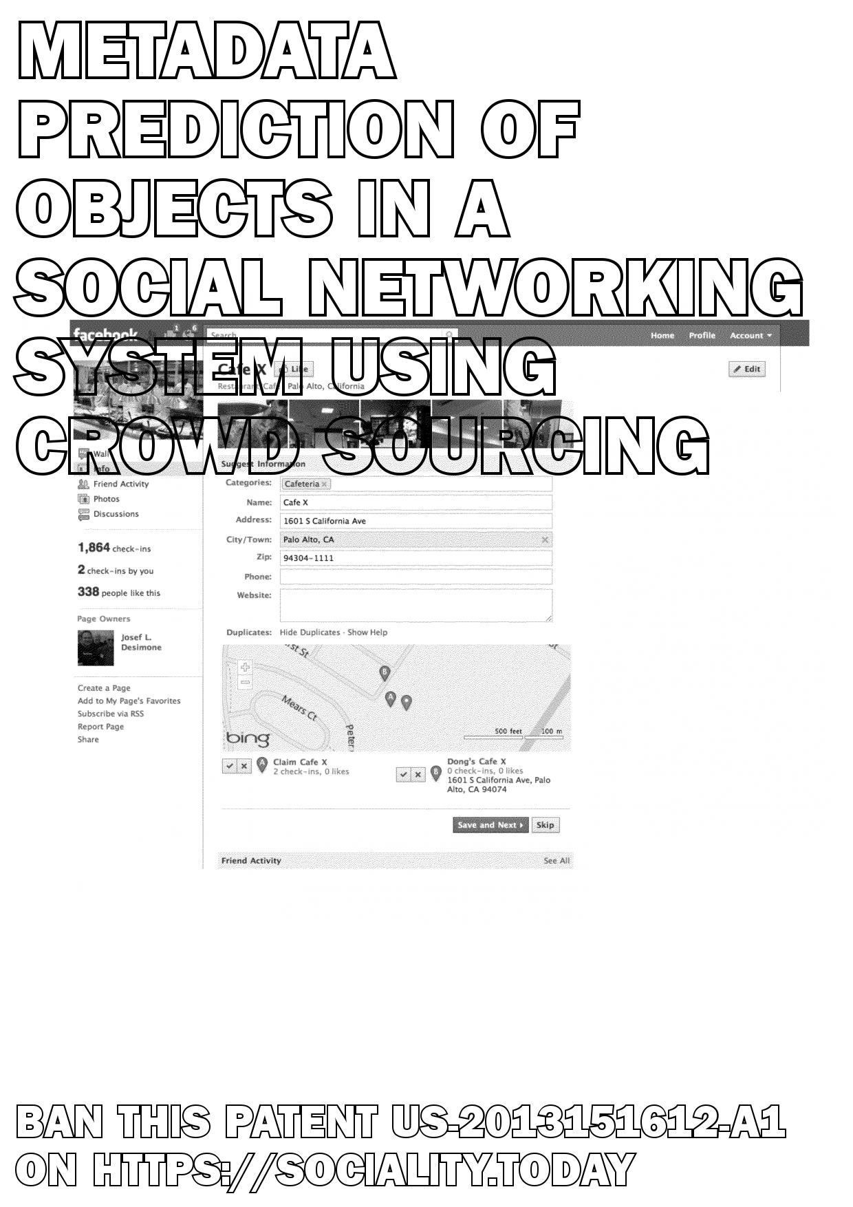 Metadata Prediction of Objects in a Social Networking System Using Crowd Sourcing  - US-2013151612-A1