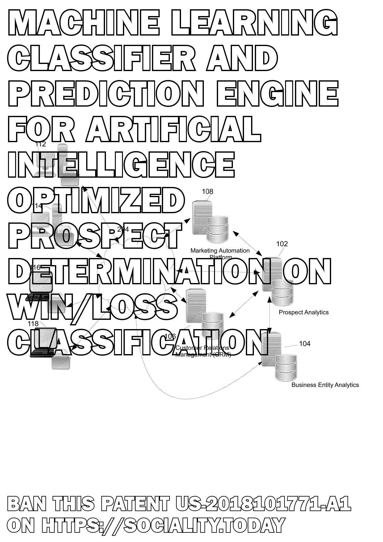 Machine learning classifier and prediction engine for artificial intelligence optimized prospect determination on win/loss classification  - US-2018101771-A1
